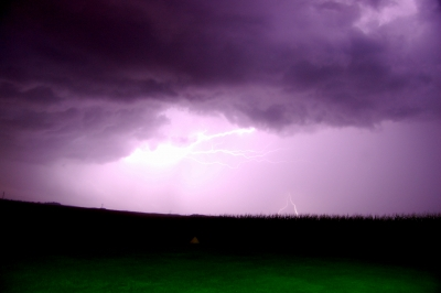 Flash Over The Corn