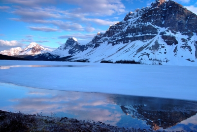 Spring Time At Bow Lake