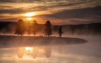 Morning In Yellowstone