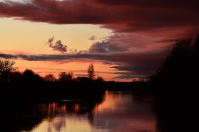 Chehalis River Sunset