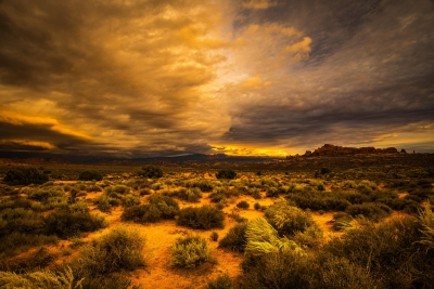 Storm Over The Desert
