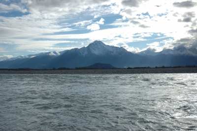 Water, Mountian, Sky – Knik River