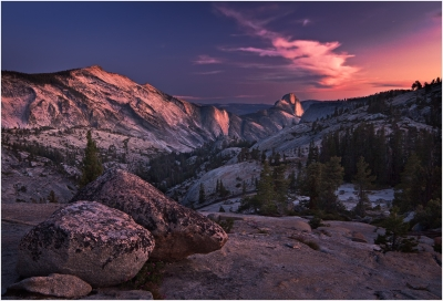 Half Dome In Pink