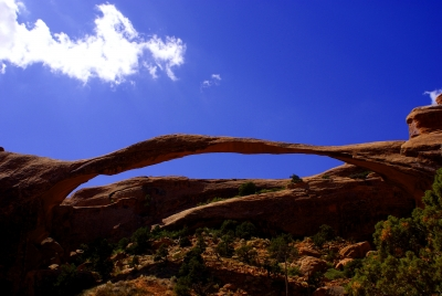Blue Sky And Skyline Arch