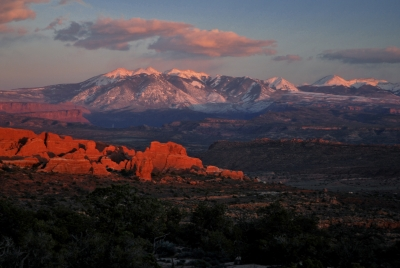 Sunset On The La Sal Mountains