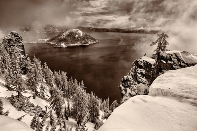 Snowstorm, Crater Lake National Park