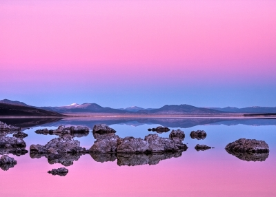 Belt Of Venus Mono Lake Reflection