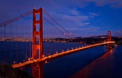 Golden Gate Bridge At The Blue Hour