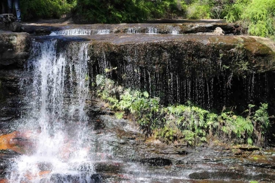 Weeping Rock At Wentworth Falls, Nsw