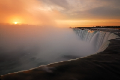 Sunrise Over Horseshoe Falls, Niagara Falls