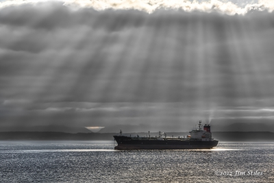 Crepuscular Rays Over Elliott Bay