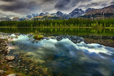 Canadian Rockies, Kananaskis Country, Peter Lougheed Provincial Park, Sunset, Reflection, Hdr