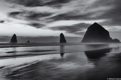 Sunset Over Haystack Rock
