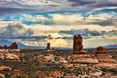 A Cloudy Day In Moab