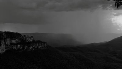 Shower Curtain Over Jamison Valley