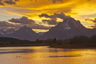 Golden Sunset At The Oxbow