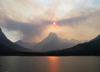 Fire Over Grinell Glacier