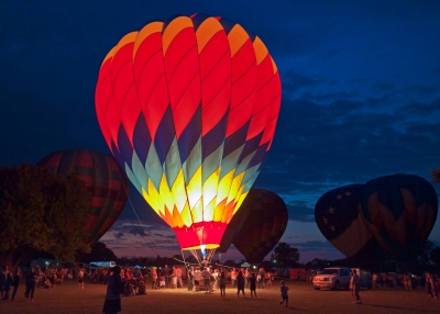 36th Annual Huff N Puff Balloon Rally Night Glow