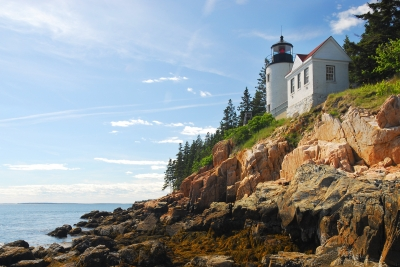 Bass Harbor Head Lighthouse At Low Tide