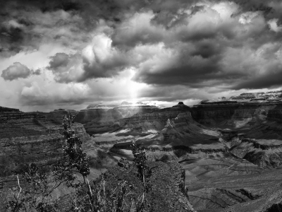 Sun Break In The Grand Canyon