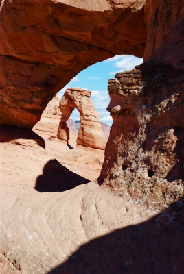 Delicate Arch Through A Window