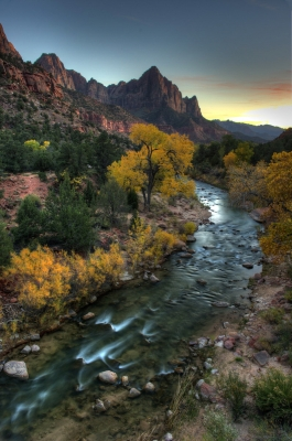 Virgin River Sunset