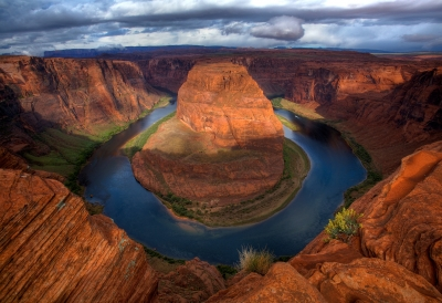 Horseshoe Bend At Dawn Just Before The Storm