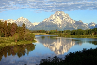 Reflection Of Mt. Moran On The Snake River