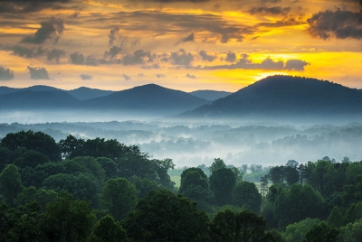 Welcome To Asheville Nc – Blue Ridge Mountains Sunset
