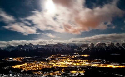 Full Moon Over Canmore