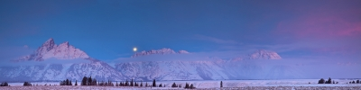 Full Moon, Teton Sunrise