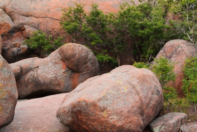 Amongst The Boulders At Elephant Rocks