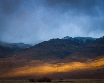 Storm And Evening Light, Owens Valley