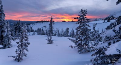 The Sun Sets On Timberline