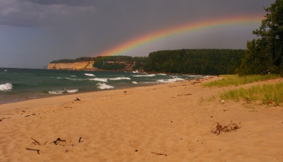 Rainbow Over The Cliffs