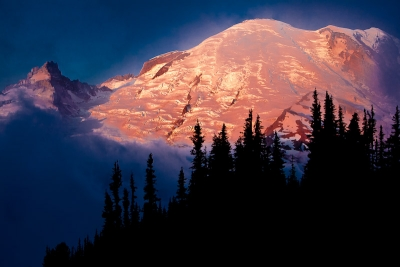 Alpine Light On Rainier
