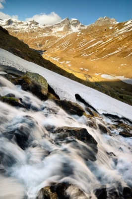 Thaw In High Sacco Valley, May.