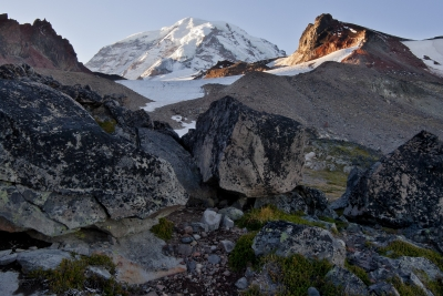 Mt Rainer And Observation Rock