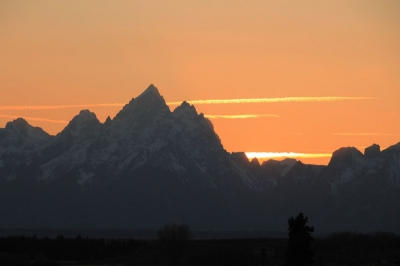 Sunset Over Tetons