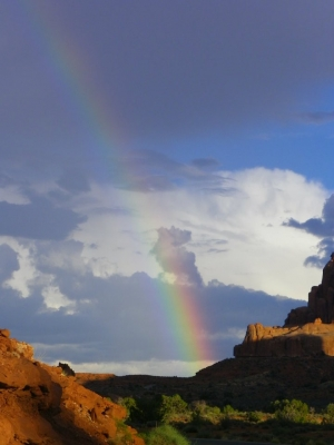 Rainbow At The Arches National Park
