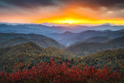 Blue Ridge Parkway Autumn Sunset – Rapture