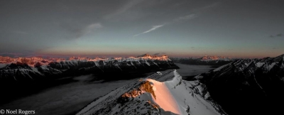 Sunrise In The Rocky Mountains