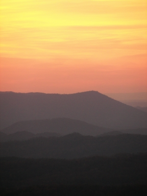 Sunset In Cherokee National Forest