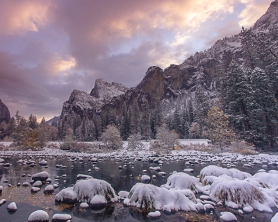 Winter Sunrise, Bridalveil Fall