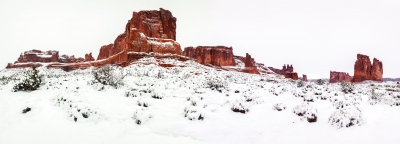 Red Rocks In The Snow