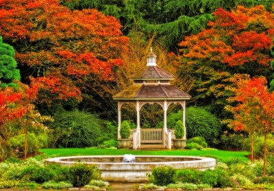 Woodland Park Gazebo In The Fall
