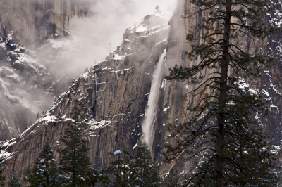 Yosemite Falls In The Clouds