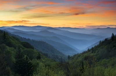 Smoky Mountains Sunrise – Gsmnp National Park