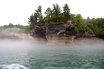 Fog Homing Into The Pictured Rock National Lakeshore