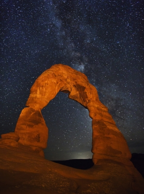 Arches At Night (arches National Park, Utah)